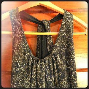 Paisley racerback dress